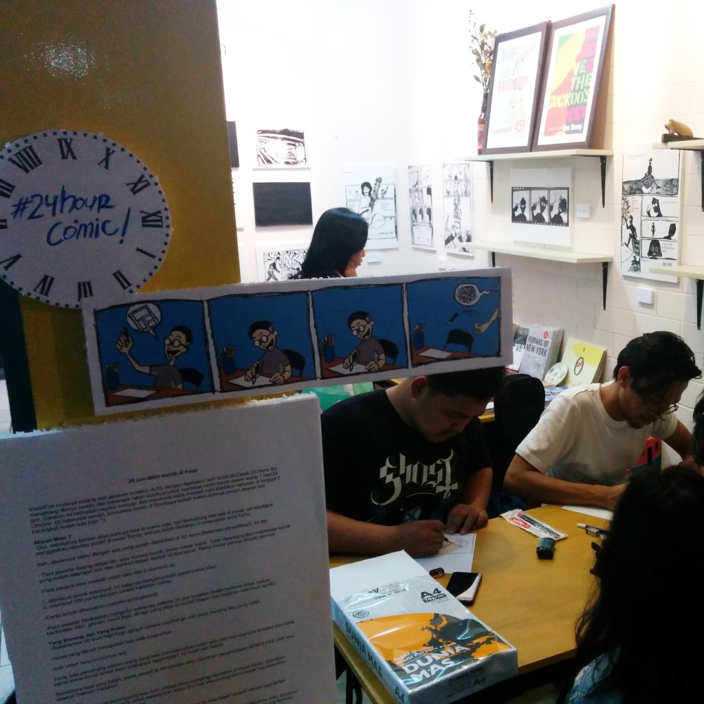 Hendy Adhitya is the comic artist mad enough to initiate the 24-hour comic drawing marathon!