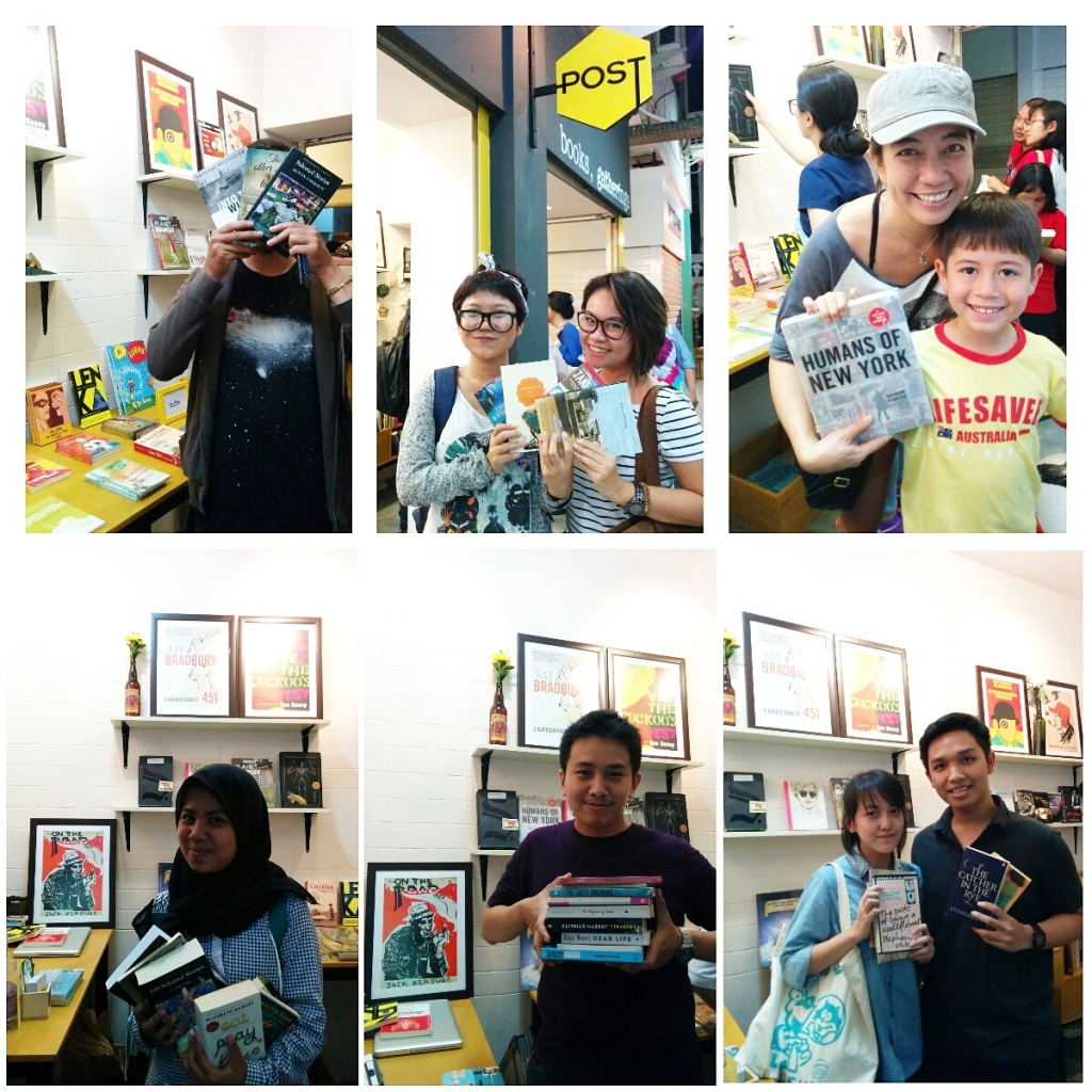 The happy faces of bibliophiles who came to our first pop-up bookshop